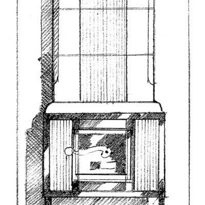 Ofenbau Scharz Ofen-Entwurf-Zeichnung 311