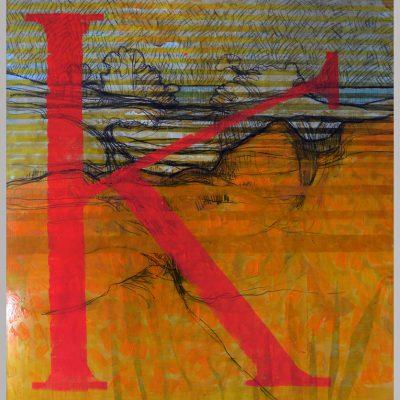 Richard Schwarz - Gemälde Rotes K