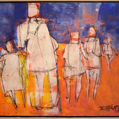 Richard Schwarz - Gemälde Spaziergang
