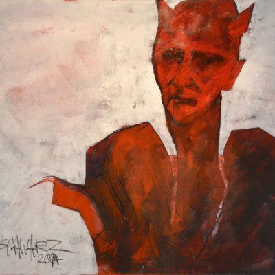 Richard Schwarz - Gemälde Teufel
