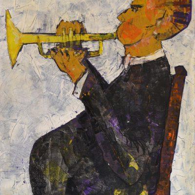 Richard Schwarz - Gemälde Trompeter